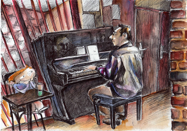 blog, dessin, piano, croquis, musique, jazz